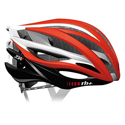 zero rh+, Casco bici per lo sport ed il tempo libero ZW, EHX6050-01-M, 54-58 cm,colore rosso-bianco