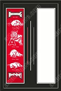Arkansas Razorbacks & Your Choice of other Team Heritage Banner Framed-House... by Art and More, Davenport, IA