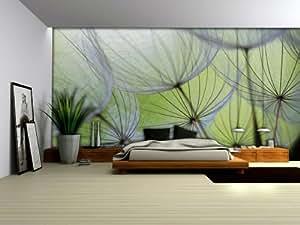 Wallpaper mural 39 39 dandelions 39 39 fleece photo for Amazon mural wallpaper