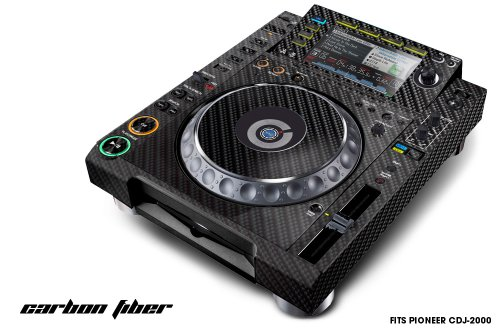 Designer Decal For:Pioneer Dj , Cdj-2000 Professional Multi Player-Carbon Fiber-Black