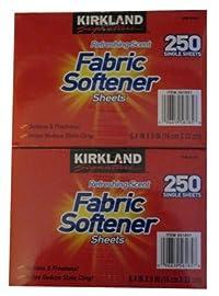 Kirkland Signature Premium Fabric Softner Sheets, Refreshing Scent 250 ct (Pack of 2)