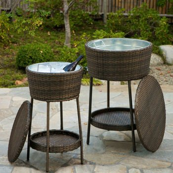 The Freeport 2 Piece All Weather Woven Resin Wicker Ice Bucket Set Is A  Great Addition To Your Outdoor Patio Furniture And Perfect For Any  Backyard, Patio, ...