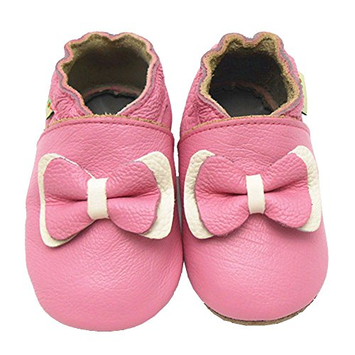 Sayoyo Baby Bow Soft Sole Pink Leather Infant And Toddler Shoes 0-6Months