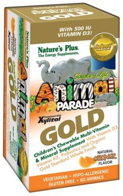 Sol Animal Parade Gold-Children'S Multi-Vitamin & Mineral Orange Flavor - 60 - Chewable