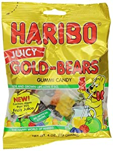 Haribo Candy, Juicy Gold-Bears, 4 Ounce (Pack of 12)