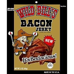 Wild Bill's 3oz Smoked Bacon Jerky Packs (4 re-sealable 3oz bacon jerky packs per bag)
