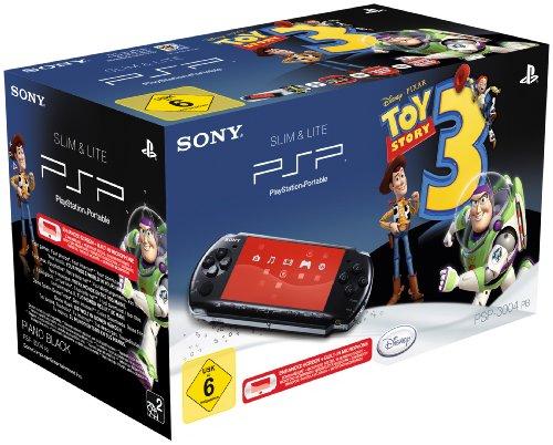 PlayStation Portable - PSP Konsole Slim & Lite 3004, black + Toy Story 3 / Theme Voucher