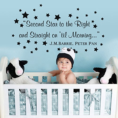 peter pan wandtattoo letters nursery baby raum wand aufkleber jmbarrie quotes braun small. Black Bedroom Furniture Sets. Home Design Ideas