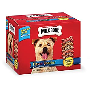 Milk-Bone Flavor Snacks Dog Biscuits for Small/Medium Dogs, 7-Pound