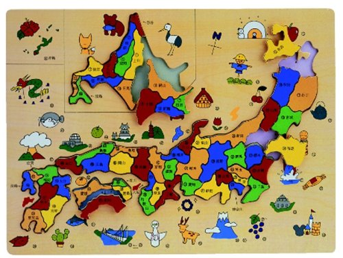 日本地図パズル : 日本地図 ジグソーパズル : パズル
