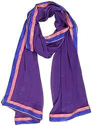Nilibar Women's Chiffon Dupatta (Purple)