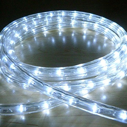 Water Proof 5 METER LED Rope Light Color: White with Adapter