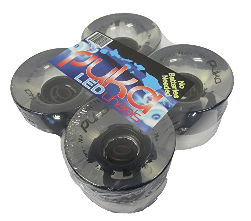 LED skateboard / longboard wheels. No Batteries needed!!! Ultra bright (Led Light Up Longboard Wheels compare prices)