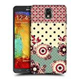 Head Case Pink Cream Floral Dots Hard Back Case Cover For Samsung Galaxy Note 3