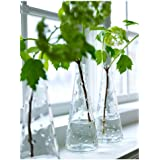 Ikea Clear Knobby Glass Vase-Snartig X3