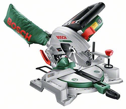 Bosch-DIY-Kapp-und-Gehrungssge-PCM-8-Arbeitsklemme-Kreissgeblatt-Optiline-Wood-Staubbeutel-Karton-1200-W-Kreissgeblatt-Nenn--216-mm