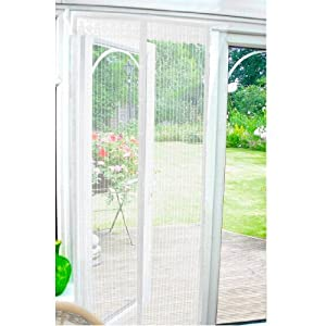7 X Magnetic Insect Door Screen - White by Beamfeature