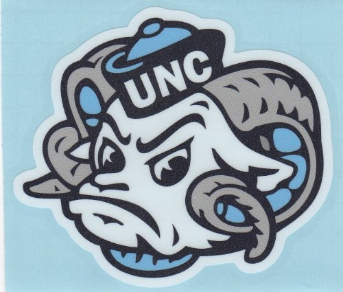 "North Carolina Tarheels MASCOT HEAD 4"" Vinyl Decal Car Truck Window Sticker UNC at Amazon.com"