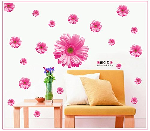 Apexshell (Tm) Big Pink Flowers Removable High Quality Decorate Wall Decal Sticker Decor For Kids, Home, Nursery Room, For Children'S Bedroom front-26957