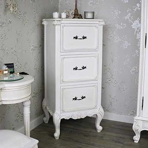 Antique Cream Tallboy cassettiera – Limoges Range