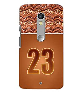 PrintDhaba Numerology Number 23 D-3658 Back Case Cover for MOTOROLA MOTO X PLAY (Multi-Coloured)