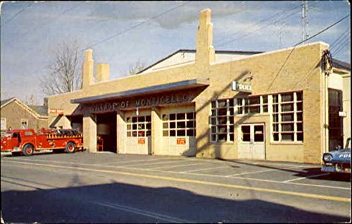 Monticello Police And Fire Department Monticello, Ny Original Vintage Postcard