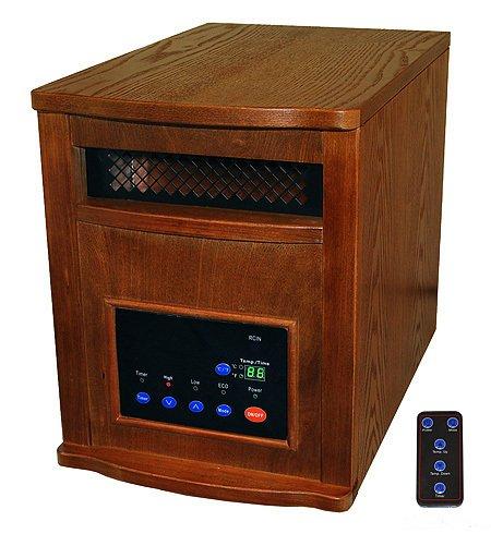 Lifesmart 1500 Sqft 1500 Watt Infrared Quartz Heater 6 Element w/ Remote