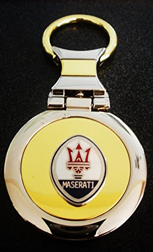 maserati-two-tone-gold-silver-key-chain