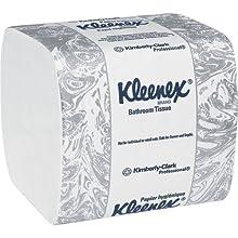 "Kimberly-Clark Kleenex 48280 Fiber Hygienic Bathroom Tissue, 8-19/64"" Length x 4-1/2"" Width (36 Packs of 250)"