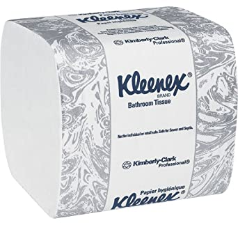 "Kimberly-Clark Kleenex 48280 Fiber Hygienic Bathroom Tissue, 8-19/64"" Length x 4-1/2"" Width (36 Packs of 250)"
