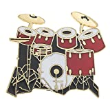 Music Pin 7 pc Drum Set Red
