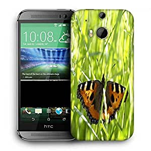 Snoogg Flying Butterfly Printed Protective Phone Back Case Cover For HTC One M8