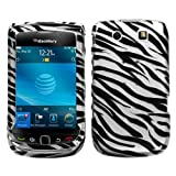 SODIAL(TM) Zebra Skin Phone Protector Faceplate Cover For RIM BLACKBERRY 9800(Torch), 9810(Torch 4G)