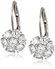"KC Designs ""Metro"" 14k White Gold and Diamond Cluster Earrings"