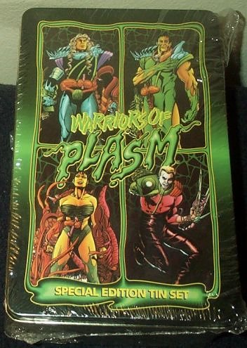 Warriors of Plasm Trading Cards Special Edition Tin Set by warriors cards
