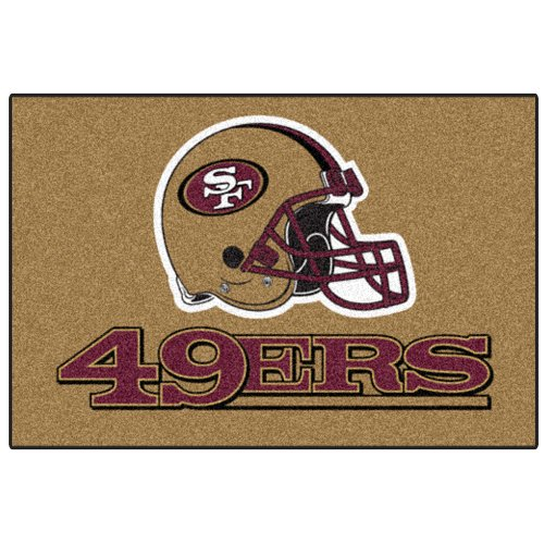 FANMATS NFL San Francisco 49ers Nylon Face Starter Rug at Amazon.com