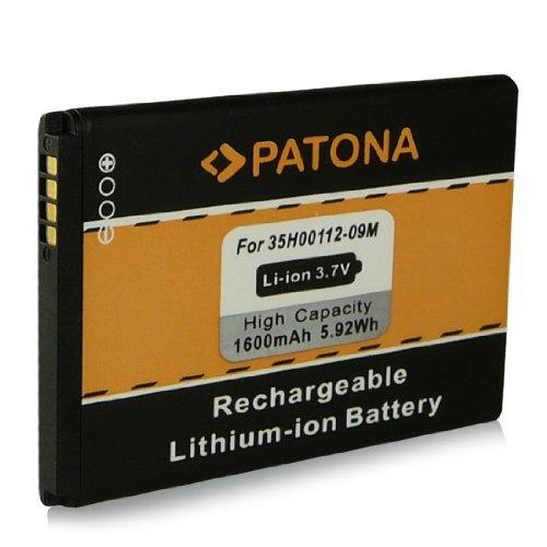 Batteria 35H00134-xxM | BA-S420 | BA-S440 | BB00100 | BB96100 | PC40100 per HTC 7 Trophy | A3333 | A6363 | Buzz | Droid Eris | Evo 4G | Legend G6 | M1 | Spark | T8686 | T8689 | Wildfire G8 e più... [ Li-ion, 1600mAh, 3.7V ]