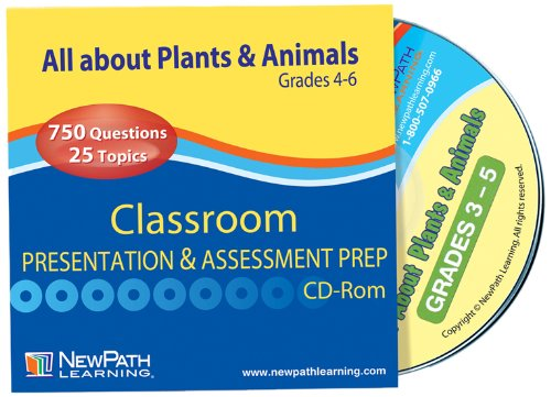 NewPath Learning Plants and Animals Interactive Whiteboard CD-ROM, Site License, Grade 3-5