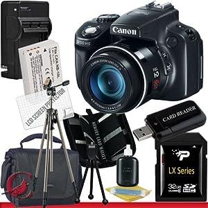 Canon PowerShot SX50 HS Digital Camera 32GB Package 6
