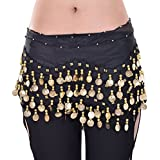 Dragonpad Black Belly Dance Skirt Hip Scarf