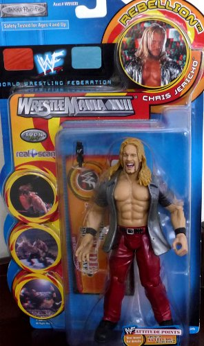 Buy Low Price Jakks Pacific CHRIS JERICHO WWE WWF Wrestlemania XVII Rebellion Series 1 Figure (B004XIKIX4)