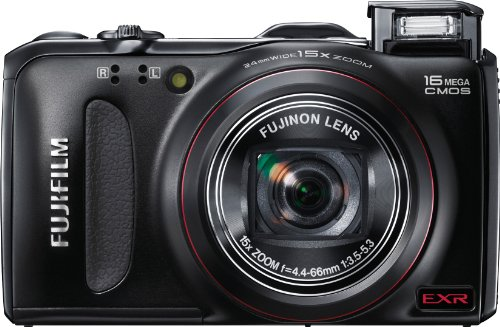 Fujifilm 16113196 FinePix F550EXR 16 MP CMOS Digital Camera With Fujinon 15x Super Wide Angle Zoom Lens and GPS Geo-Tagging Function