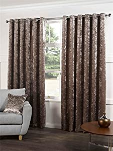 """Champagne Beige Velvet 66x72"""" 168x183cm Lined Ring Top Eyelet Curtains *gj* by Curtains"""