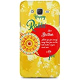 Rakhi Gift Of Printed Back Cover For Samsung Galaxy J7 2016 Version By Motivatebox.Happy Rakhi Dear Brother Design, Polycarbonate Hard Case With Premium Quality And Matte Finish