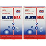 Allicin Max 90 Veg Caps (Pack of 2 - 180 Caps)