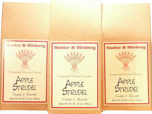 Hunter & Hilsberg Apple Strudel Cookie and Biscotti Mix, 16-Ounce (Pack of 3)