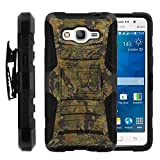 Galaxy Grand Prime Case, Galaxy Grand Prime Holster, Two Layer Hybrid Armor Hard Cover with Built in Kickstand for Samsung Galaxy Grand Prime SM-G530H, SM-G530F (Cricket) from MINITURTLE | Includes Screen Protector - Abstract Camouflage
