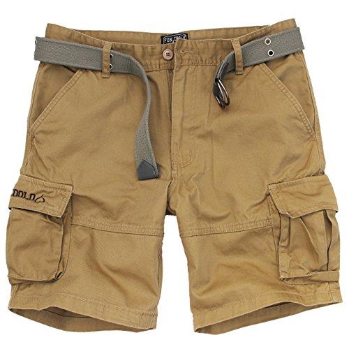 Fun Coolo Pantaloncini corti Bermuda Cargo short con tasconi laterali, con cintura sabbia L 50
