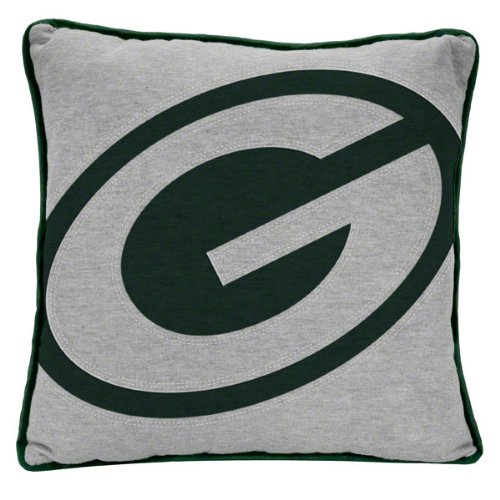 NFL Green Bay Packers Big Logo Applique Pillow