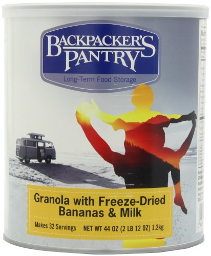 Backpacker'S Pantry Granola With Freeze-Dried Bananas And Milk, 44 Ounce